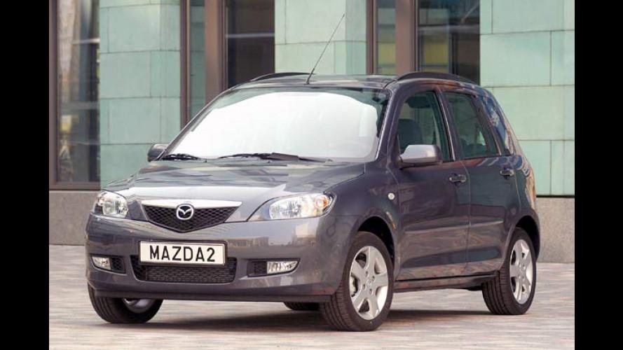 Mazda 2 Active: Klimaanlage und CD-Player ab Werk an Bord