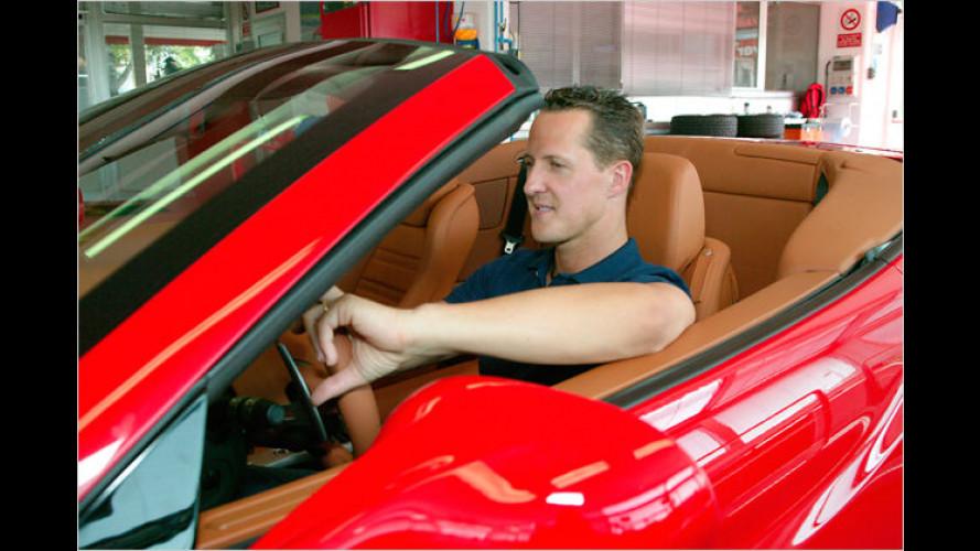 Michael Schumacher stimmt den Ferrari California ab