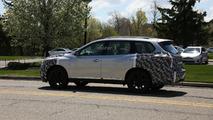 2017 Nissan Pathfinder facelift spy photo