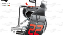 McLaren MP4/31 side pods, Sochi