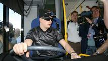 Kimi Raikkonen test drives zero-emission fuel cell bus