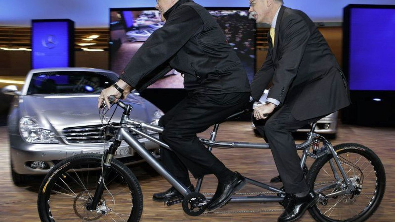 DaimlerChrysler Bosses Ride Tandem Bicycle