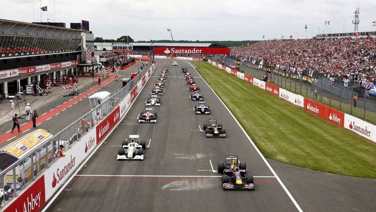 Start of the race, British Grand Prix, 21.06.2009 Silverstone