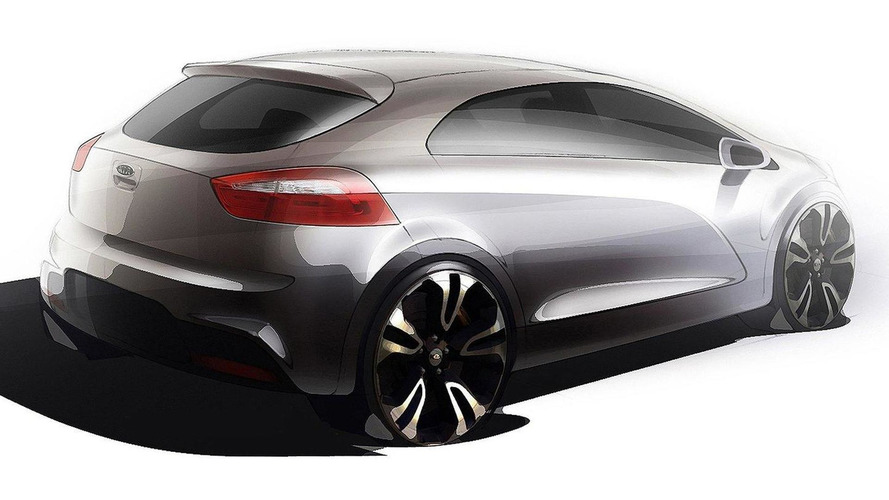 Next-gen 2012 Kia Rio teaser sketches released
