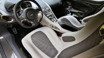 Aston Martin one-77 interior at Concorso d'Eleganza