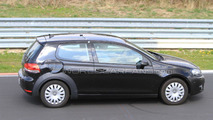 2013 VW Golf VII prototype mule spy photos, Nurburgring, Germany, 28.04.2010
