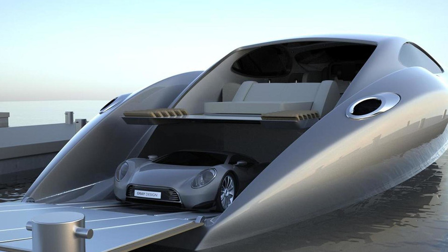 $26m Super Yacht comes with hand-crafted 880hp V12 Supercar