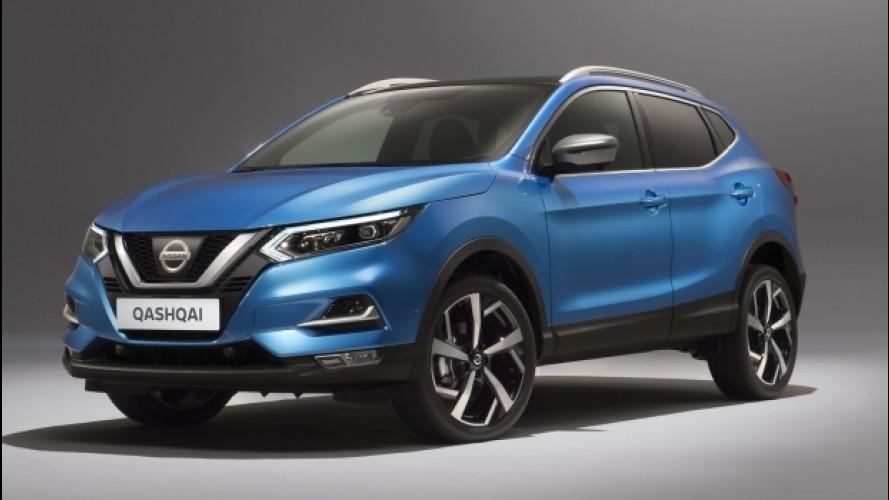 Nissan Qashqai restyling, nuovo frontale e più tecnologia