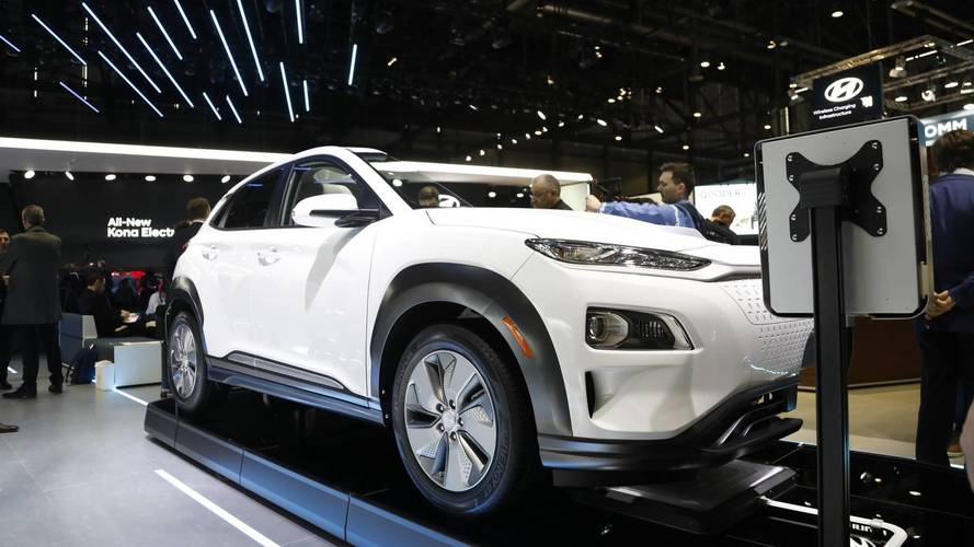 Hyundai Kona Electric at the 2018 Geneva Motor Show