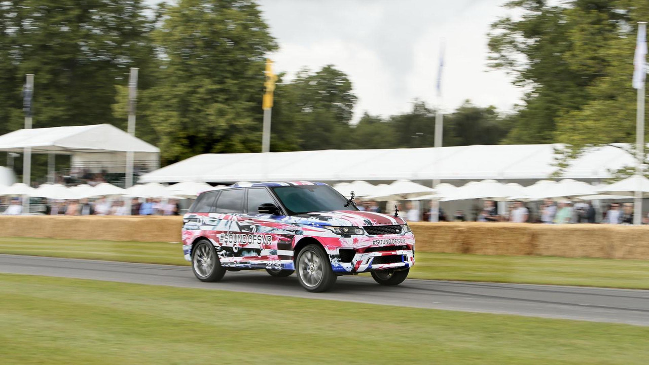 Range Rover Sport SVR prototype live at Goodwood