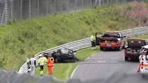 Acura NSX prototype catches on fire