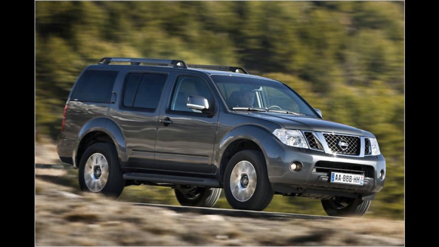 Nissan Navara und Pathfinder gehen geliftet an den Start