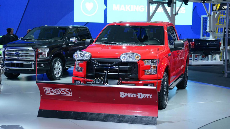 Ford shows off the 2015 F-150 in Chicago with a snow plow