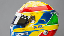 Esteban Gutiérrez Sauber F1 Team 2014 helmet