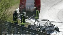 Audi RS8 test mule accident