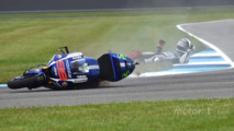 Jorge Lorenzo, Yamaha Factory Racing crashes