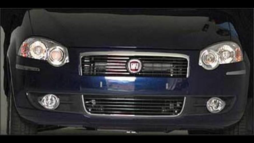 Novo Fiat Siena 2008 muda frente e fica diferente do novo Palio