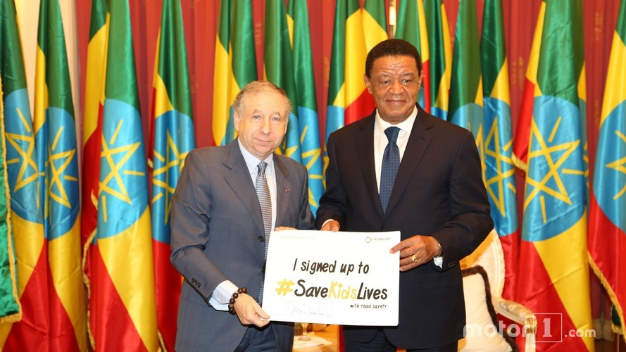 Jean Todt, FIA president with Ethiopian President Mulatu Teshome (1)