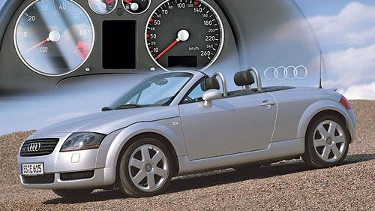 Non reflective instrument panel cover for Audi TT