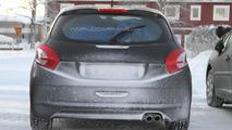 High Performance 2013 Peugeot 208 GTI prototype spy photo