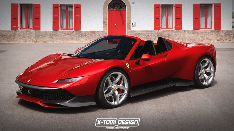 Ferrari SP38 Loses Roof To Become Gorgeous Spider