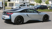BMW i8 performance variant spy shots