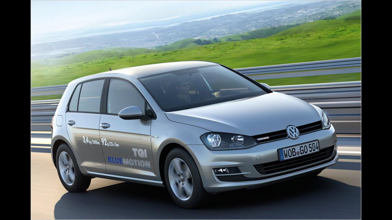 VCD Auto-Umweltliste, geteilter Platz 5: Volkswagen Golf 1.4 TGI BlueMotion, 7,38 Punkte