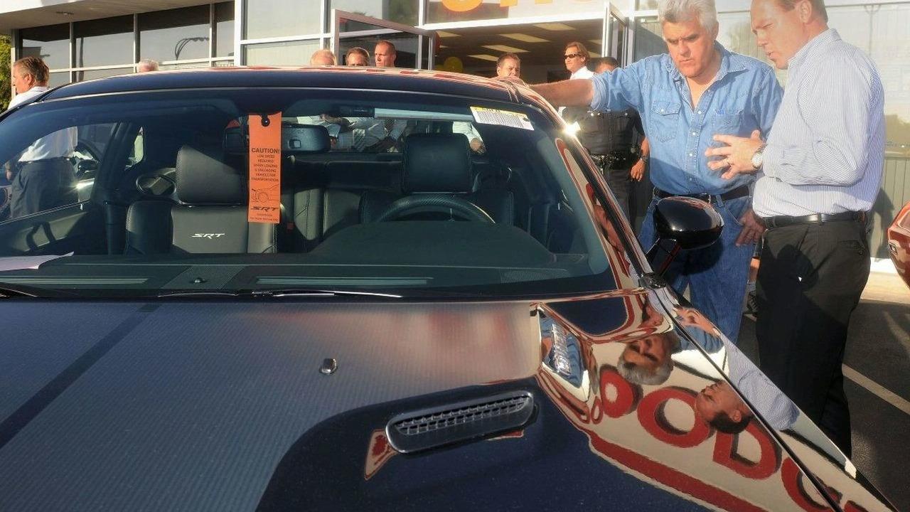 Leno takes receipt of 2008 Dodge Challenger SRT 8