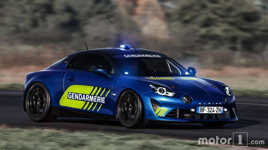 Alpine A110 Imagined As A Sporty French Police Car