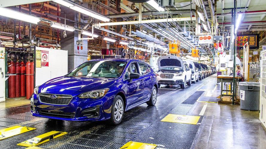 ABD üretimi ilk Subaru Impreza üretim bandından çıktı