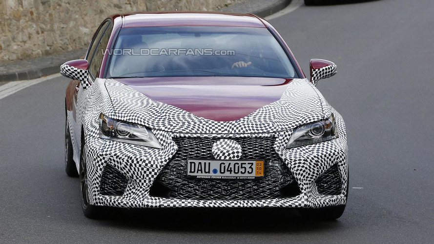 2016 Lexus GS F spied up close, could have 500 bhp
