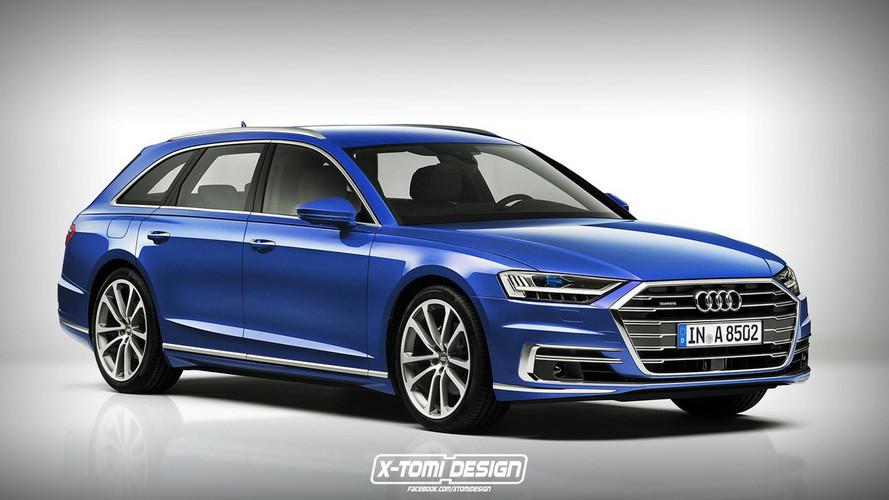 Renderképen a 2018-as Audi A8 Avant