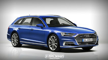 Audi A8 Coupe, Avant, S8, RS8 renders