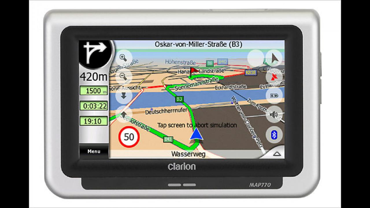 Clarion Map 770: Neuheit mit 4,3-Zoll-Display