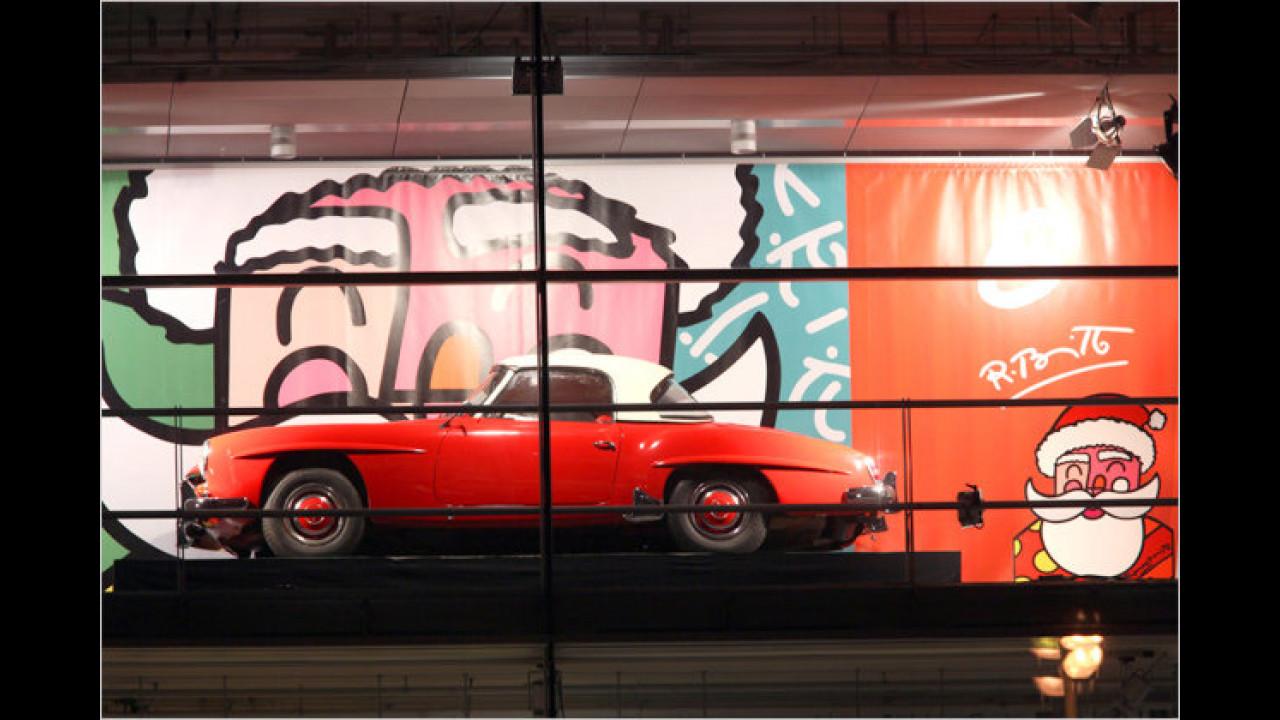 6. Dezember: Mercedes 190 SL, mit Romero Brittos ,Santa Claus