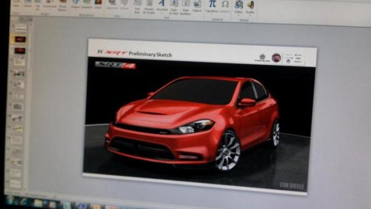 2014 Dodge Dart SRT4 preliminary sketch