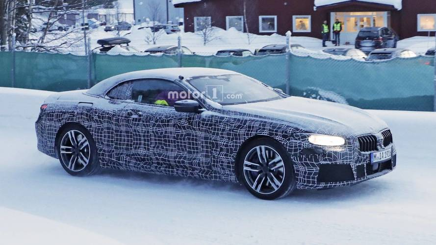 Camouflage Can't Hide BMW 8 Series Convertible's Sensuous Lines