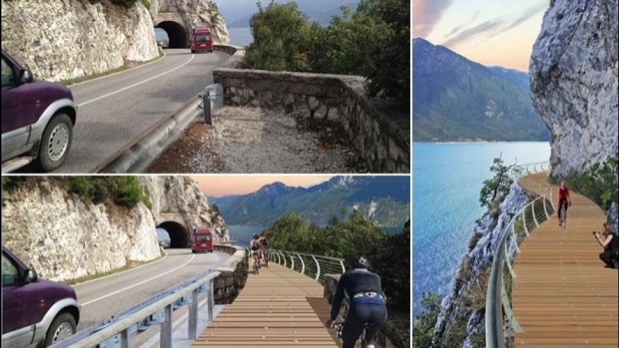 Bici, la pista ciclabile più bella d'Europa sarà sul Garda