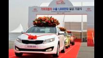 Kia comemora marca de 10 milhões de veículos exportados