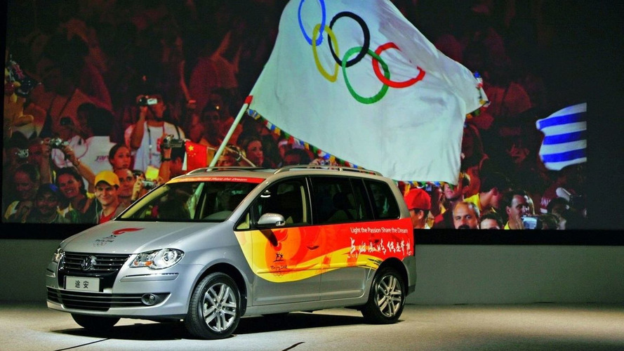 Volkswagen unveils first convoy-vehicles for Olympic torch relay