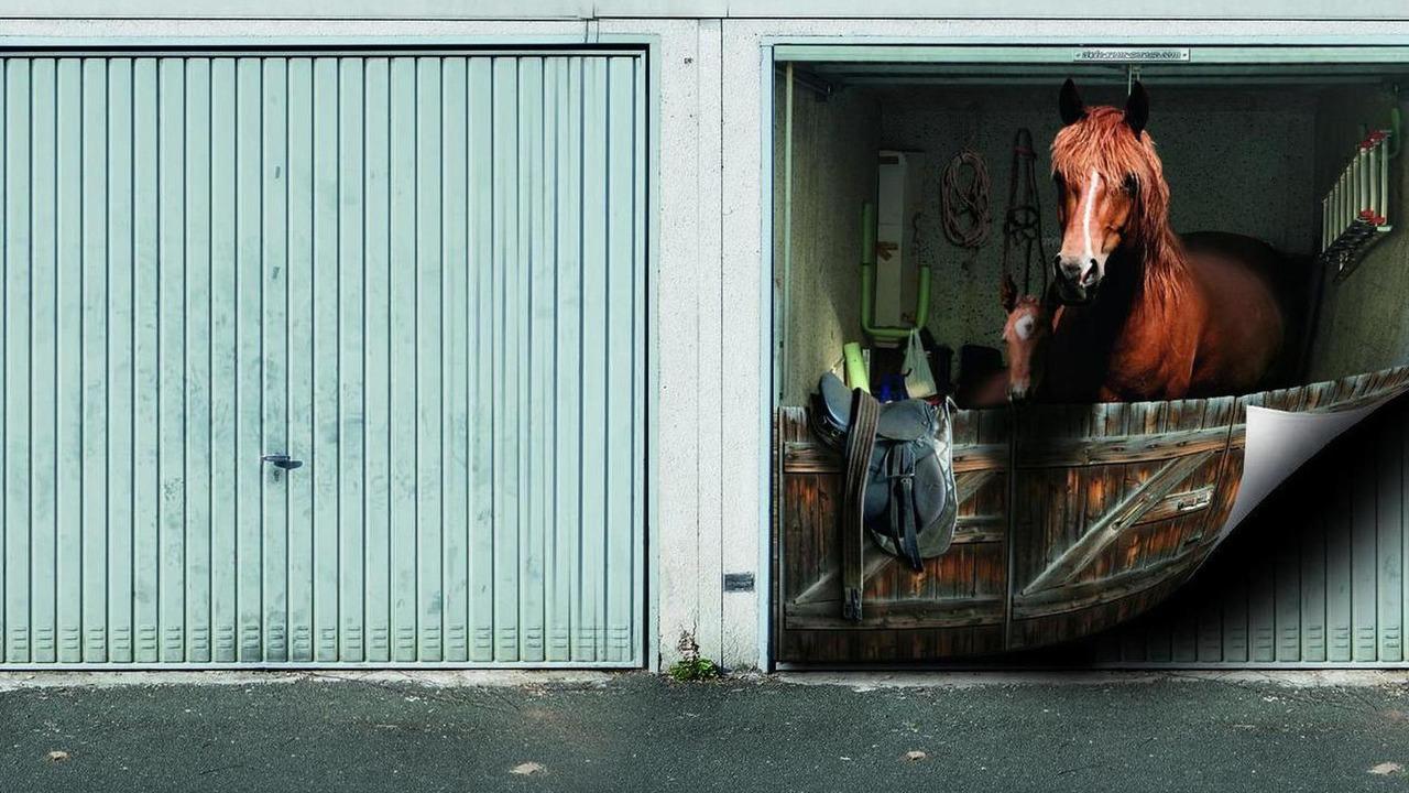 garage door muralsTune your home with garage door murals NSFW  Motor1com Photos