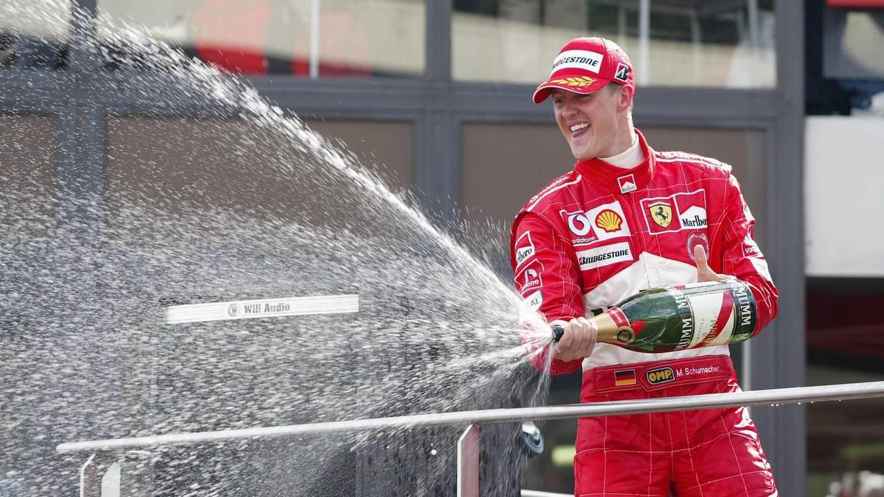Podium: Michael Schumacher, Ferrari