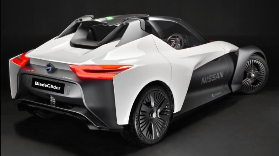 Nissan BladeGlider, l'elettrica che supera i 190 km/h