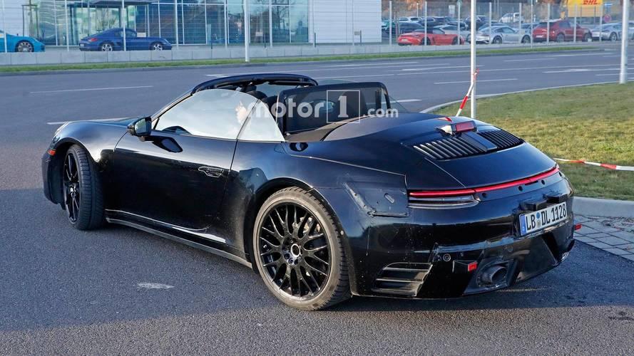Photos espion - La nouvelle Porsche 911 Cabriolet se fait surprendre