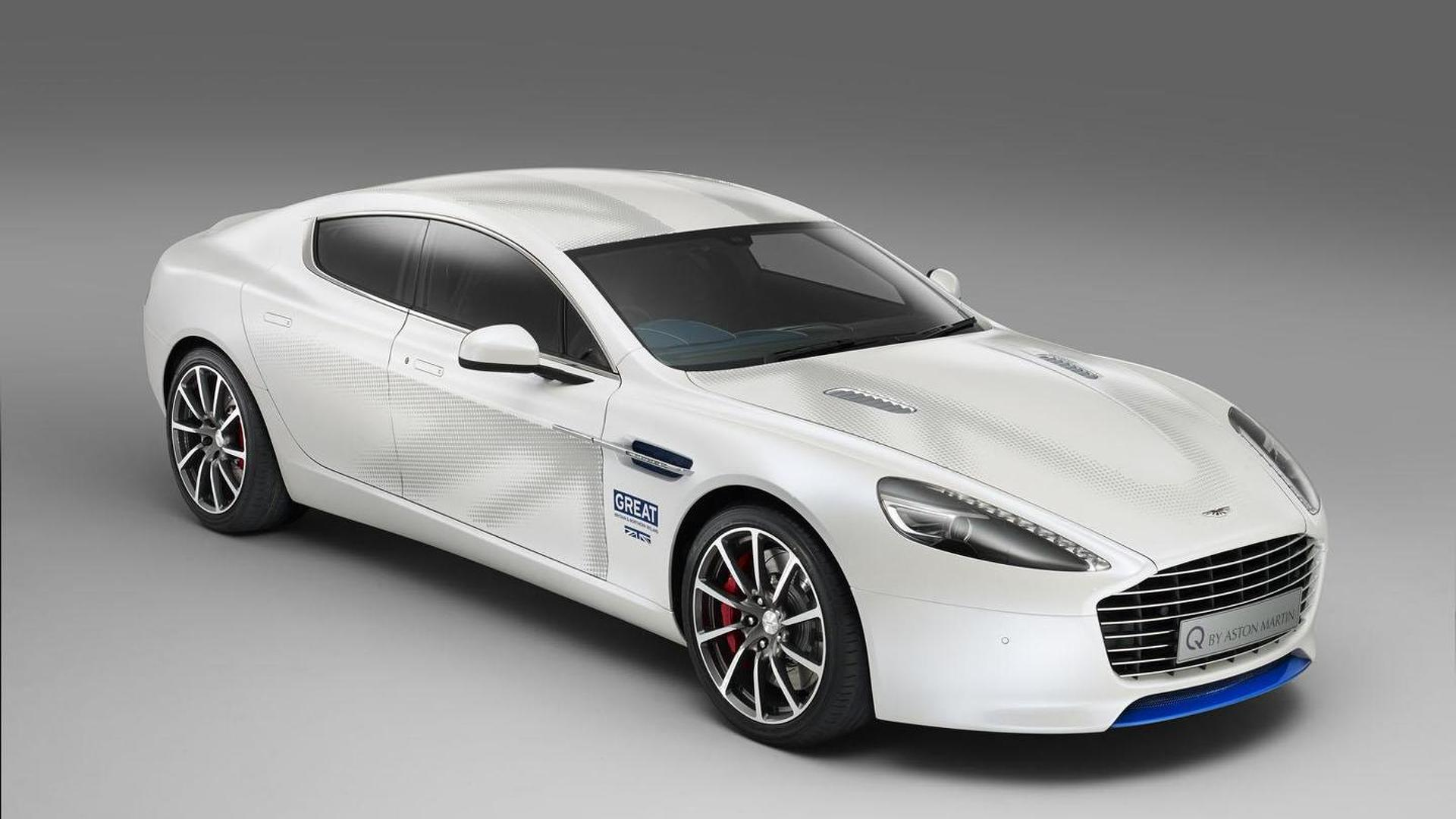 white aston martin rapide. aston martin introduces a oneoff rapide s to promote the great britain campaign white