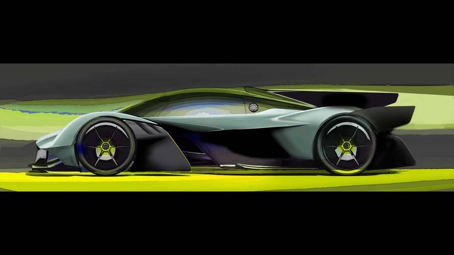 Aston Martin Valkyrie AMR Pro rendus