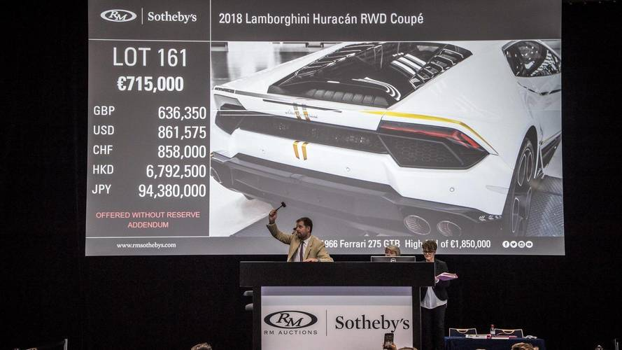 El Lamborghini Huracán del Papa Francisco, subastado por 715.000 euros