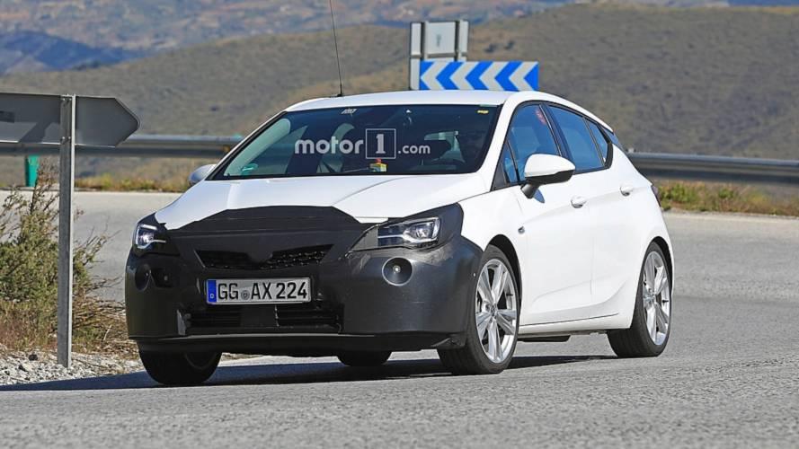 2019 Opel Astra facelift spy photos