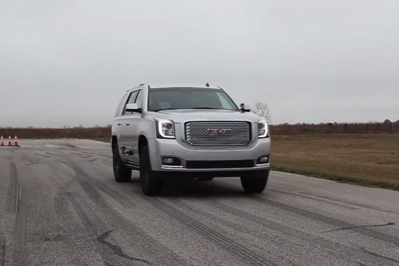 Watch How Fast This Hennessey Yukon Denali Hits 60MPH