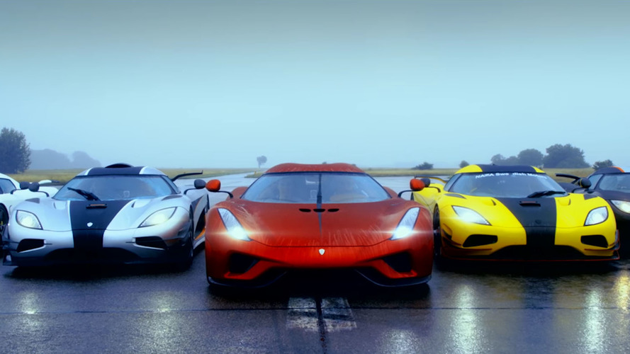Koenigseggs go on parade at the first Owner's Tour